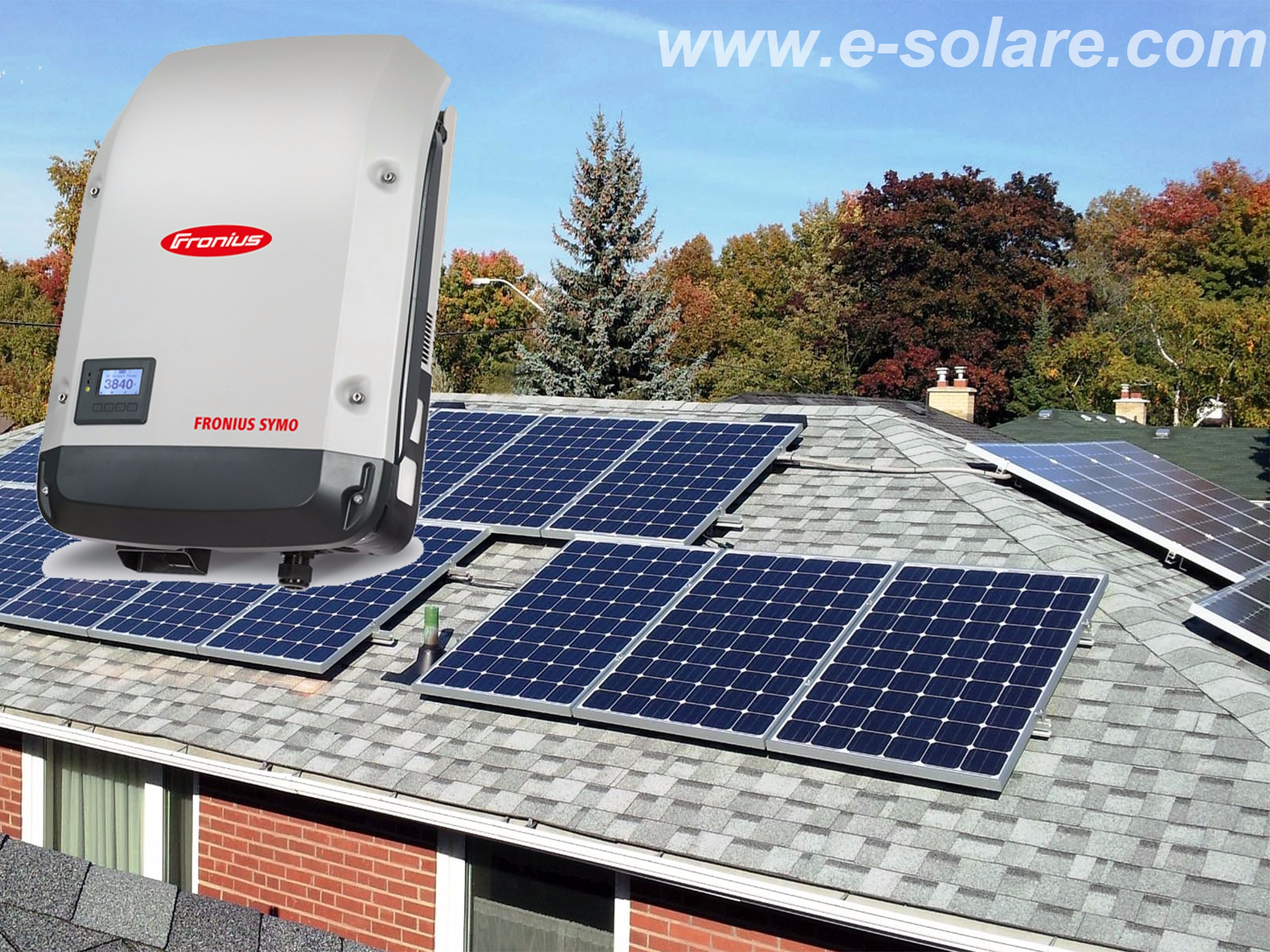 photovoltaic kit three phases on grid kwp fronius. Black Bedroom Furniture Sets. Home Design Ideas