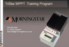 Morningstar TriStar MPPT Web Training