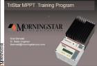 Morningstar TriStar MPPT Web Training
