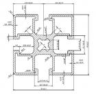Profil Solar Aluminiu 45x45x1,35 PTW 004 - 1,466 kg/ ml -3100 mm/bara