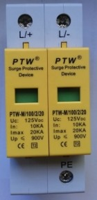 Descarcator supratensiune  (arestor) PTW-M100/2/20