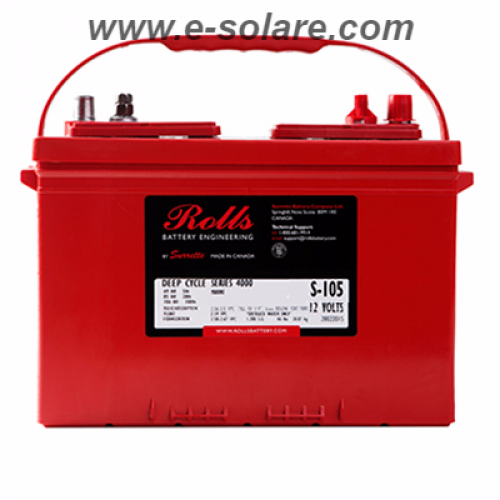 Battery Rolls Solar 4000 - S105 / S12 24