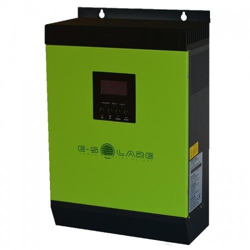 "Invertor-Charger Hibrid ""E-SOLARE"" 3KVA / 24V (+60A MPPT - max 1500 Wp - 60/72 cells - racire radiator)"